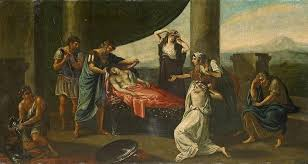 kingdom painting the mourning of alexander the great by karl von piloty