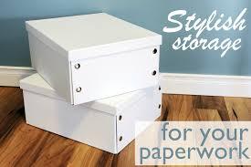 Decorative File Storage Boxes Decorative Document Storage Boxes 29
