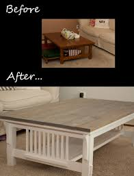 Old Coffee Table Makeovers A Cheap And Easy Way To Transform A Mission Style Coffee Table