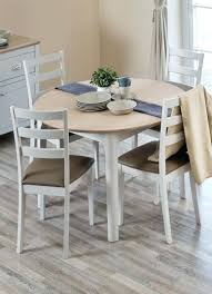 painted round extending dining table kitchen delightful 4 extraordinary