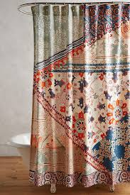 orange and teal shower curtain. slide view: 2: risa shower curtain orange and teal o