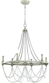 6 light french washed oak distressed white wood chandelier farmhouse antique 5 chandeliers small wooden ch