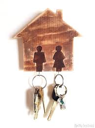 key chain holder for wall his hers wall mounted key chain rack using a scroll saw key chain holder for wall