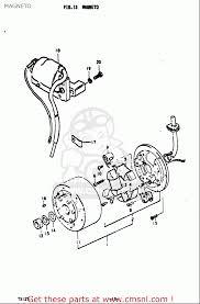 Suzuki ts125 1971 1972 r j usa e03 mag o schematic
