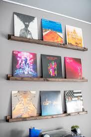 diy vinyl record wall shelves bre pea