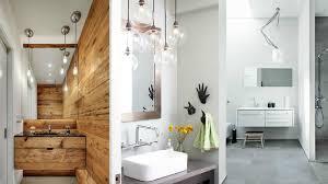 bathroom hanging lights collage