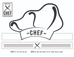 Small Picture Chef hat cutout Free Printable Coloring Pages