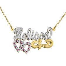 10k gold diamond script name necklace tyche nyc inside