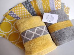 grey and yellow bath rugs design