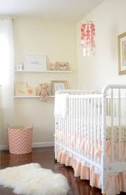 shabby white and coral nursery
