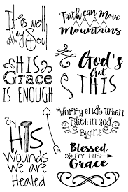 Faith Quotes From The Bible Faith Quotes Bible Journaling Clear Stamps 30