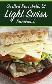 Finlandia Light Swiss Portobello Mushroom And Light Swiss Cheese Sandwich