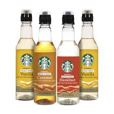 An icy, blended drink of coffee, cream, and other flavorings. Amazon Com Starbucks Variety Syrup 4pk Variety Pack Grocery Gourmet Food
