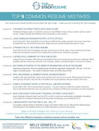 Top 9 Common Resume Mistakes - Top Of The Stack Resume Writer
