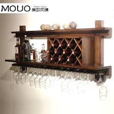 wall mounted bar wood wine rack cooler modern glass hanging to order in cabinet hinges from wall mounted bar