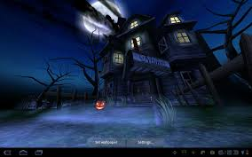Android Wallpaper Review: Haunted House ...