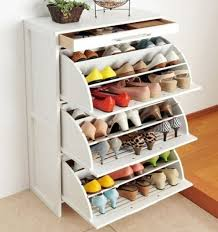 Decorations:Creative Black Shoe Storage With Double Doors Also Top Pullout  Drawers Pretty Unique Shoe