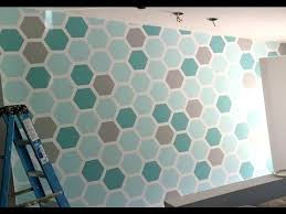 how to paint a hexagon shaped honeycomb accent wall