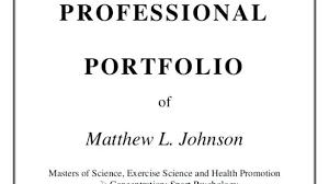 Professional Portfolio Cover Page Template Sample Free Te