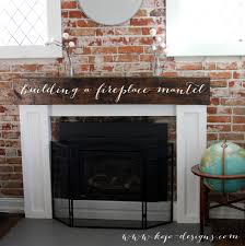 Diy Fireplace Mantel How To Build A Fireplace Mantel