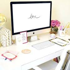 girly office. Girly Office Desk Accessories West Elm Rug Candles Spade Gold Dots Agenda And O