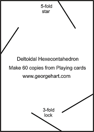 Playing Card Polyhedral Construction