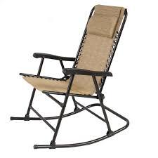 folding rocking chair foldable rocker outdoor patio furniture beige com