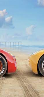 Cars 3, red and yellow car 1242x2688 ...