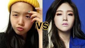 pop idols who are almost unrecognizable without makeup jiwon of a 39 s day minah s day minah nomakeup jpg