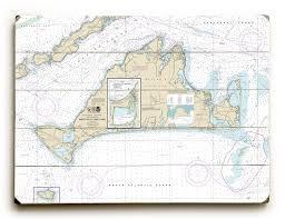 Ma Marthas Vineyard Ma Nautical Chart Sign