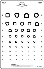 Vision Levels Chart Kids Eye Chart Test Wall Chart 9 X14 Patti Pics 9 Line Wide Spaced