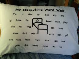 Sleepy Time Word Wall