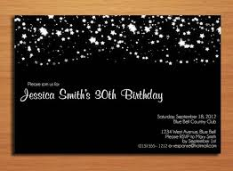 elegant starry night th birthday customized printable adult  elegant starry night 30th birthday customized printable adult birthday party invitation cards diy