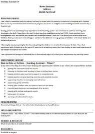 cv teaching assistant cv example for a teaching assistant lettercv com