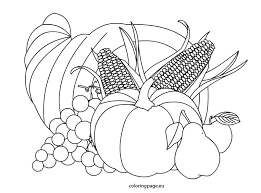 Small Picture Free Printable Coloring Pages Printable Cornucopia Coloring Page