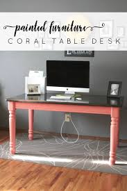 coral furniture. Painted-Furniture-Coral-Table-Desk Coral Furniture D