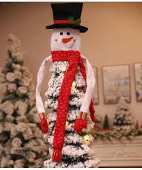 new tree decor home outdoor tree toppers hanging ornaments snowmen with scarf hat gift holiday decor