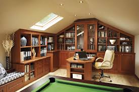 classic home office furniture. with limited space for a dedicated office area in the home this executive was installed above garage classic furniture
