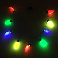 Light Up Christmas Necklaces Christmas Bulb Led Necklace Overstock Christmas Bulbs