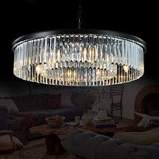 Contemporary dining room lighting fixtures Round Kitchen Table Image Unavailable Amazoncom Amazoncom Meelighting Crystal Chandeliers Modern Contemporary