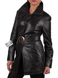 women black leather long jacket savannah jpg