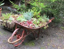 wood wheelbarrow planter ideas albert