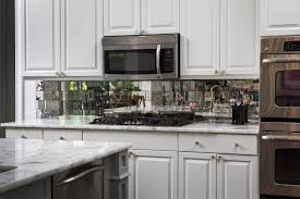 antique mirror backsplash installed rh buildersglassbonita com mirror tile backsplash kitchen mirror tile backsplash ideas