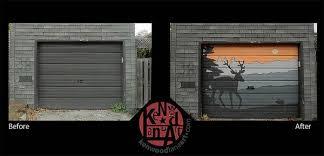 garage door artToronto neighbours turn their laneway into a garagedoor art