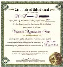 Certificate Of Achievement Examples Fiveoutsiders Com