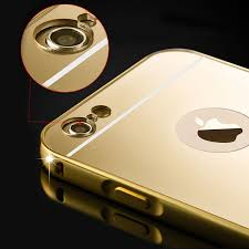 iphone 5s gold case for girls. luxury aluminum ultra-thin mirror metal rugged case cover for iphone 7 plus iphone 5s gold girls t