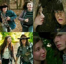 Enid and Carl. THE WAY SHE LOOKS AT HIM IS LIKE HE IS THE ONLY GOOD IN THE  WORLD | Enid walking dead, Walking dead scenes, Walking dead series
