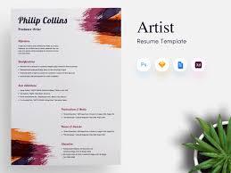Freelance Artist Cvresume Template By Getresumeco On Dribbble