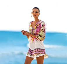 2017 Tunics Long Beach Cover Up Kaftans For Beach Women Tunic One