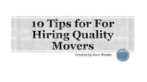 10 Tips for For Hiring Quality Movers-Flip Book Pages 1-12 | PubHTML5